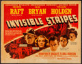 "Movie Posters:Crime, Invisible Stripes (Warner Brothers, 1939). Half Sheet (22"" X 28"").Crime.. ..."