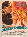 "Movie Posters:Crime, Accused (Criterion, 1946). First Post-War Release French Grande(47"" X 63""). Crime.. ..."