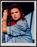 "Movie Posters:Action, Demi Moore (1980s). Autographed Photo (8"" X 10""). Action.. ..."