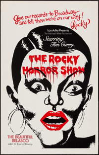 """The Rocky Horror Show (Michael White, 1975). Broadway Window Card (14"""" X 22""""). Rock and Roll"""