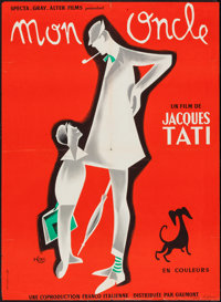 """Mon Oncle (Gaumont, 1958). French Affiche (22.25"""" X 30.5""""). Comedy"""