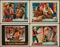 "Movie Posters:Western, The Lone Ranger and Other Lot (Warner Brothers, 1956). Lobby Cards (4) (11"" X 14""). Western.. ... (Total: 4 Items)"