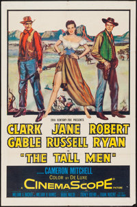 "The Tall Men (20th Century Fox, 1955). One Sheet (27"" X 41""). Western"