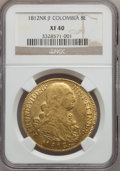 Colombia, Colombia: Ferdinand VII gold 8 Escudos 1812 NR-JF,...