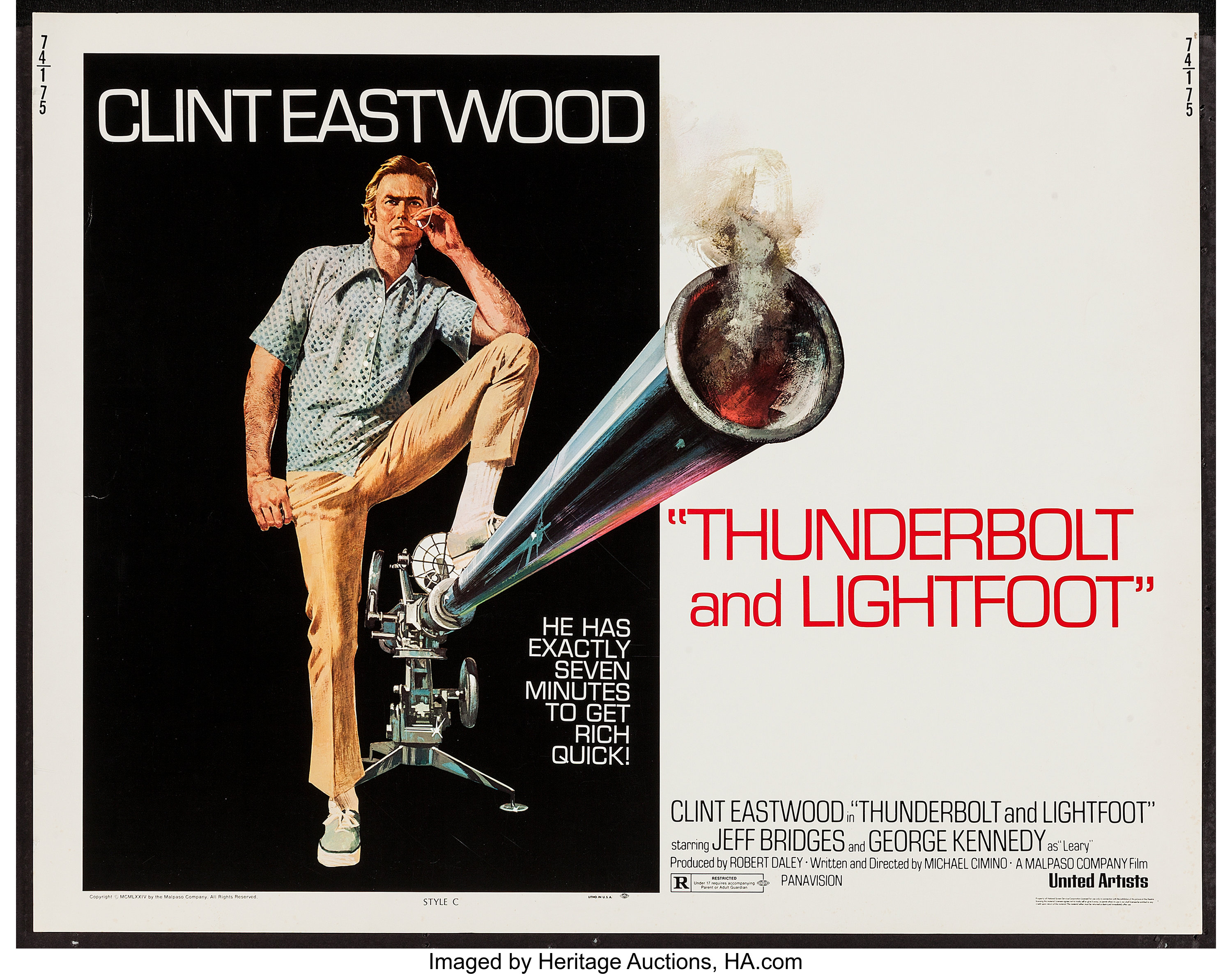 Thunderbolt and Lightfoot & Other Lot (United Artists, 1974). Half   Lot  #54459   Heritage Auctions