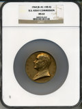 Assay Medals, 1964 U.S. Assay Medal, Bronze MS64 NGC. JK-AC-108. The original presentation case is included and has a dark blue exterior a...