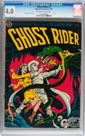 Golden Age (1938-1955):Horror, Ghost Rider #7 (Magazine Enterprises, 1952) CGC VG 4.0 Off-white towhite pages....