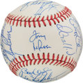 Baseball Collectibles:Balls, 1990 American League All Star Team Signed Baseball With Puckett....