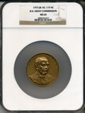 Assay Medals, 1975 U.S. Assay Medal, Bronze MS64 NGC. JK-AC-119. The originalpresentation case is included and has a black exterior and a...
