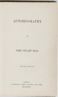 Books:Biography & Memoir, John Stuart Mill. Autobiography. Longmans, Green, Reader, and Dyer, 1873. Second edition. Minor rubbing and bumping ...