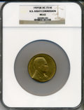 Assay Medals, 1929 U.S. Assay Medal, Bronze MS62 NGC. JK-AC-73....