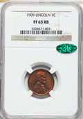 Proof Lincoln Cents, 1909 1C PR65 Red and Brown NGC. CAC....