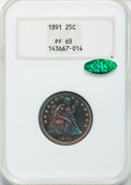 Proof Seated Quarters, 1891 25C PR65 NGC. CAC....