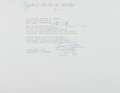 """Autographs:Authors, Tennessee Williams, American Writer and Playwright. Typed Poem Annotated and Signed """"Tennessee Williams"""". One page, San Fran..."""