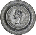 Ancients:Roman Imperial, Ancients: Antoninus Pius (AD 138-161). AE framed medallion (67mm,100.42 gm, 12h). ...