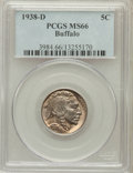 Buffalo Nickels: , 1938-D 5C MS66 PCGS. PCGS Population (27885/1584). NGC Census:(19462/1936). Mintage: 7,020,000. Numismedia Wsl. Price for ...