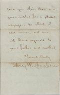 Autographs:Authors, Henry Wadsworth Longfellow, American Poet. Autograph Letter Signed.Includes envelope. Very good....