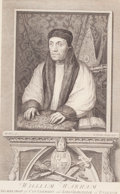 Works on Paper, PAIR OF ENGLISH PRINTS: ABBOT ARCH BISHOP OF CANTERBURY AND WILLIAM WARHAM, ARCHBISHOP OF CANTERBURY AND LORD CHANCELLOR TO KI... (Total: 2 Items)