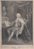 Fine Art - Work on Paper:Print, DAVID MARTIN (British/American, 1736-1798). Lord Mansfield, March 1, 1775. Engraving. 27-1/2 x 20 inches (69.9 x 50.8 cm...