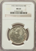 Commemorative Silver: , 1935 50C Arkansas MS65 NGC. NGC Census: (391/95). PCGS Population(505/169). Mintage: 13,012. Numismedia Wsl. Price for pro...