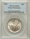 Commemorative Silver: , 1925 50C Stone Mountain MS65 PCGS. PCGS Population (2154/919). NGCCensus: (2226/788). Mintage: 1,314,709. Numismedia Wsl. ...
