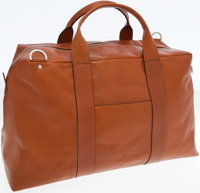 Jack Spade Brown Mill Leather Wayne Duffel Bag