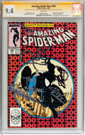 Modern Age (1980-Present):Superhero, The Amazing Spider-Man #300 Signed by Stan Lee and Others (Marvel,1988) CGC Signature Series NM 9.4 White pages....