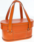Luxury Accessories:Bags, Jil Sander Orange Leather Doctors Bag. ...