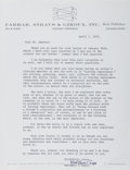 Autographs:Authors, Madeleine L'Engle, American Author. Typed Letter Signed. Overall fine....