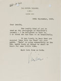 Autographs:Authors, Vivian Leigh, American Actress. Typed Letter Signed with Gonewith the Wind Mention. Near fine....