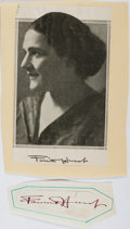 Autographs:Authors, Fannie Hurst, American Author and Screenwriter. Clipped Signature.Very good....