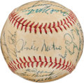 Baseball Collectibles:Balls, 1962 Chicago Cubs Team Signed Baseball With Ken Hubbs. ...