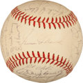Baseball Collectibles:Balls, 1964 Philadelphia Phillies Team Signed Baseball. ...