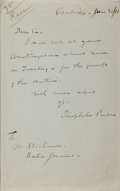 Autographs:Statesmen, Theophilus Parsons, American Jurist and Editor of US LiteraryGazette. Autograph Letter Signed. Very good....