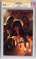 Modern Age (1980-Present):Miscellaneous, Red Sonja #7 Red Foil Edition Signed by Adam Hughes (Dynamite Entertainment, 2006) CGC Signature Series NM/MT 9.8 White pages....
