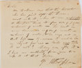 Autographs:Authors, William B. Tappan, American Poet. Autograph Note Signed. Very good....