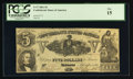 Confederate Notes:1861 Issues, T37 $5 1861 PF-1 Cr. 284.. ...