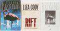 Books:Mystery & Detective Fiction, Liza Cody. Group of Three Books, One Signed. Various, 1988-1992.Rift is a review copy with slip laid in. One copy of ...(Total: 3 Items)