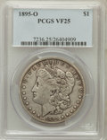 Morgan Dollars: , 1895-O $1 VF25 PCGS. PCGS Population (180/3686). NGC Census:(121/3493). Mintage: 450,000. Numismedia Wsl. Price for proble...