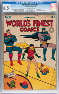 Golden Age (1938-1955):Superhero, World's Finest Comics #18 (DC, 1945) CGC FN+ 6.5 Off-white to white pages....