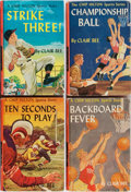 Books:Children's Books, Clair Bee. Group of Four Chip Hilton Books. Grosset &Dunlap, 1948-1955. Decorated boards. Overall very good.... (Total:4 Items)