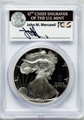 Modern Bullion Coins, 1993-P $1 One Ounce Silver Eagle Insert autographed By John M.Mercanti,12th Chief Engraver of the U.S. Mint PR70 Deep Ca...