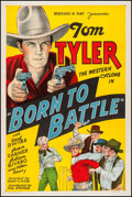 "Movie Posters:Western, Born to Battle (William Steiner, 1935). One Sheet (27.25"" X40.75""). Western.. ..."