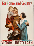 """Movie Posters:War, World War I Propaganda (U.S. Government, 1918). Poster (30"""" X 40"""")""""For Home and Country."""" War.. ..."""
