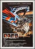 "Movie Posters:Action, Superman II (Warner Brothers, 1981). Italian 2 - Foglio (39.5"" X55""). Action.. ..."