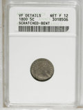 Early Half Dimes: , 1800 H10C --Scratched, Bent--ANACS. VF Details, Net F 12. NGCCensus: (3/165). PCGS Population (9/191). Mintage: 40,000. Nu...