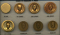 U.S. Presidents & Statesmen, Eight Stages of Matte Medal Production.... (Total: 8 pieces)