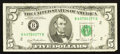 Error Notes:Ink Smears, Fr. 1976-B $5 1981 Federal Reserve Note. Very Fine+.. ...