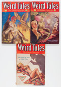 Pulps:Horror, Weird Tales Group (Popular Fiction, 1932) Condition: Average VG....(Total: 3 Items)
