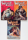 "Pulps:Horror, Weird Tales ""The People of the Black Circle"" Group (PopularFiction, 1934) Condition: Average VG-.... (Total: 3 Items)"